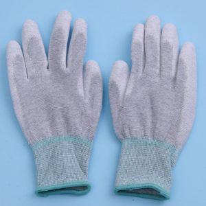 ESD látkové rukavice s pogumovanými dlaňami a koncami prstov - palmfit